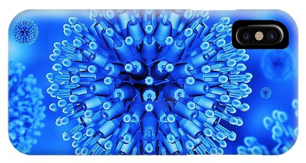 Herpes Virus Particles, Artwork Phone Case by Mehau Kulyk