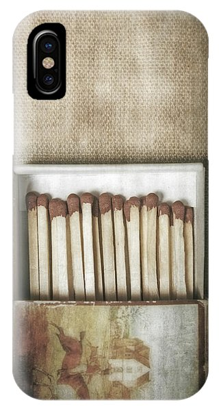 Flammable iPhone Case - Matches by Joana Kruse