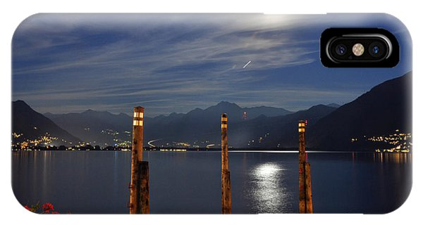 Moon Light Over An Alpine Lake IPhone Case