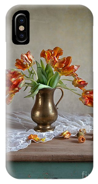 Petals iPhone Case - Still Life With Tulips by Nailia Schwarz