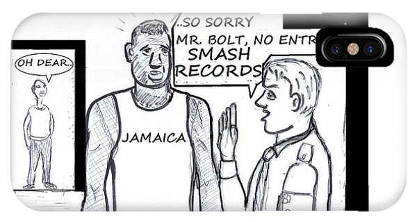 Usain Bolt V Security Guard IPhone Case