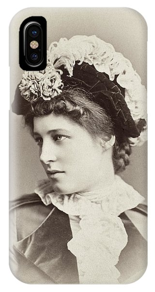 Lillie iPhone Case - Lillie Langtry (1852-1929) by Granger