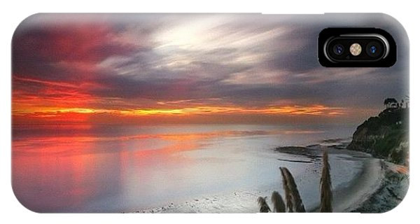 iPhone Case - Long Exposure Sunset At A North San by Larry Marshall