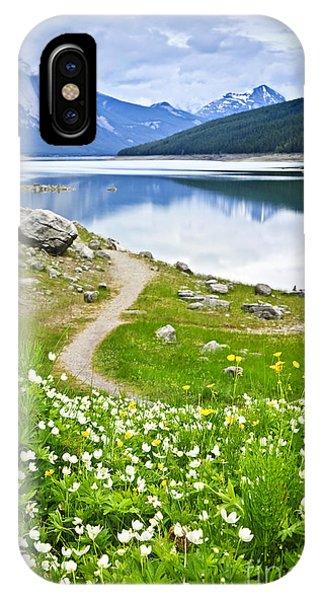 Path iPhone Case - Mountain Lake In Jasper National Park by Elena Elisseeva