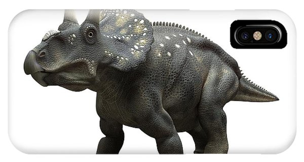 Diceratops iPhone Case - Nedoceratops Dinosaur, Artwork by Sciepro