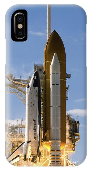 Liftoff iPhone Case - Space Shuttle Atlantis Lifts by Stocktrek Images