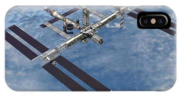 International Space Station iPhone Case - Computer Generated View by Stocktrek Images