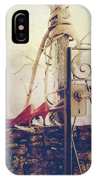 Garden Wall iPhone Case - Pumps by Joana Kruse