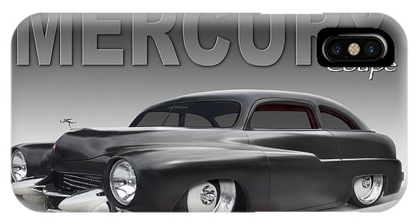 Coupe iPhone Case - 50 Mercury Coupe by Mike McGlothlen