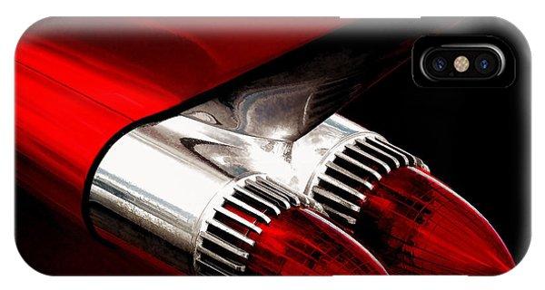 Chrome iPhone Case - '59 Caddy Tailfin by Douglas Pittman