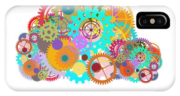 Meshed iPhone Case - Gears Wheels Design  by Setsiri Silapasuwanchai