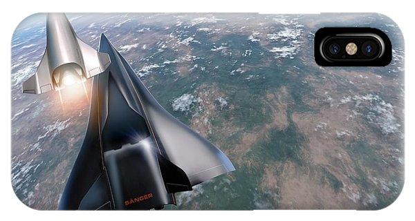Saenger Horus Spaceplane, Artwork Phone Case by Detlev Van Ravenswaay