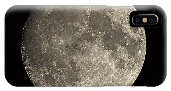 Waxing Gibbous Moon Phone Case by Eckhard Slawik