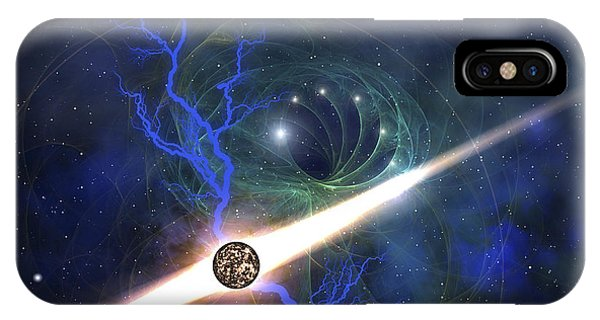 Light Speed iPhone Case - A Brilliant Star In The Universe by Corey Ford