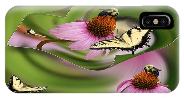 A Busy Garden IPhone Case