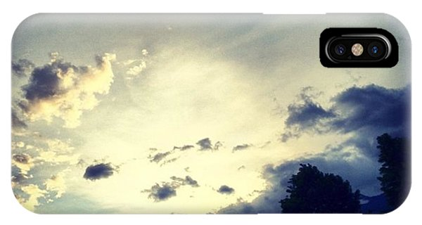 Cloud iPhone Case - A Cloudy Night by Luisa Azzolini