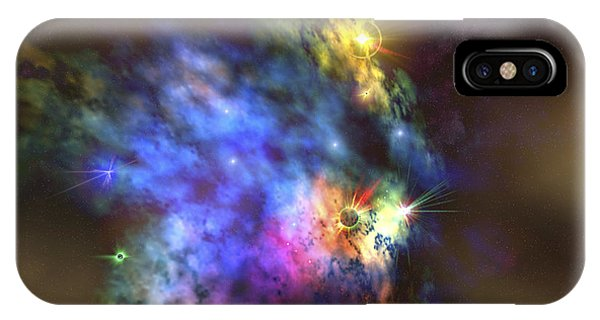 Light Speed iPhone Case - A Colorful Nebula In The Universe by Corey Ford