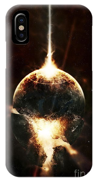 Beam iPhone Case - A Concentrated Gamma Ray Strikes by Tomasz Dabrowski
