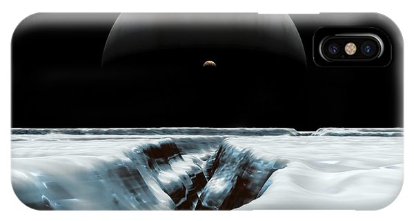 A Crescent Jupiter And Volcanic IPhone Case
