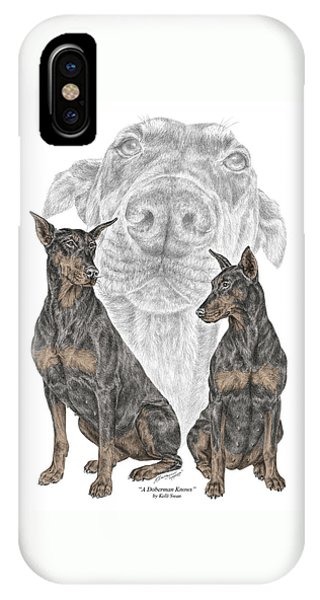 A Doberman Knows - Dobe Pinscher Dog Art Print IPhone Case