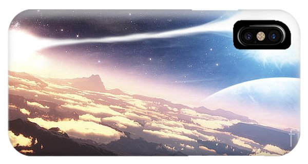 Beam iPhone Case - A Double Star System As Seen by Frieso Hoevelkamp