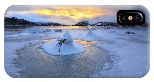 A Frozen Fjord That Is Part IPhone Case