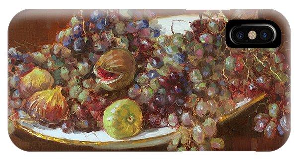Grape iPhone X Case - A Greek Summer Plate by Ylli Haruni