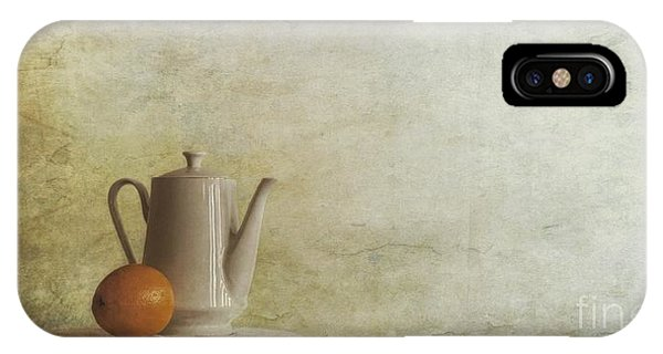 Amber iPhone Case - A Jugful Tea And A Orange by Priska Wettstein