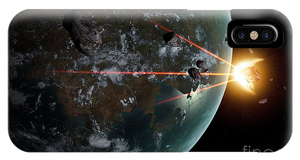 Beam iPhone Case - A Laser Anti-asteroid Defense System by Frieso Hoevelkamp
