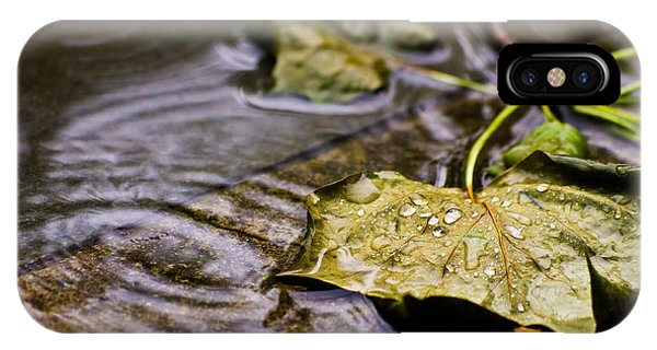 A Leaf In The Rain IPhone Case