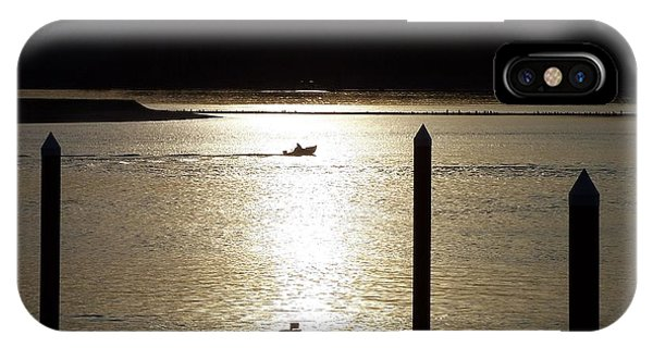 A Lone Boat At Sunset IPhone Case