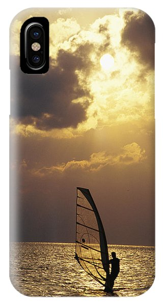 A Lone Wind-surfer Skims The Water IPhone Case