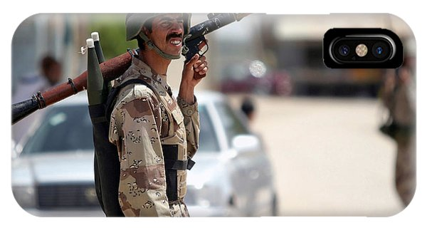 A Member Of The Iraqi Security Force IPhone Case