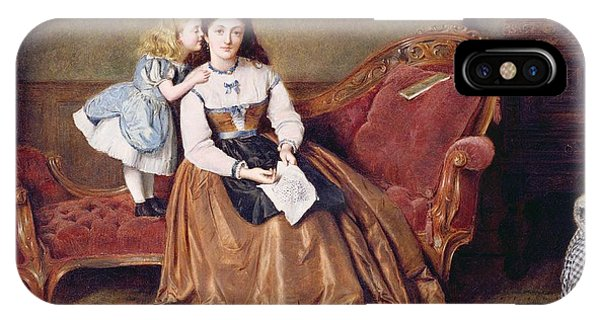 Chaise iPhone Case - A Mother's Darling by George Goodwin Kilburne