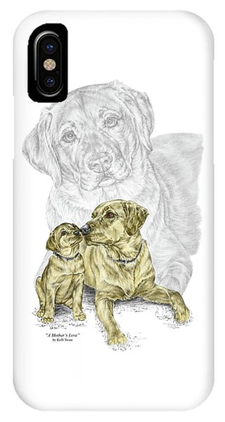 A Mothers Love - Labrador Dog Print Color Tinted IPhone Case