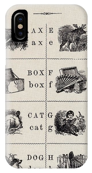 A Page From The Pictorial Alphabet IPhone Case