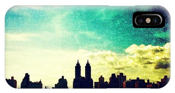 A Paintbrush Sky Over Nyc IPhone Case