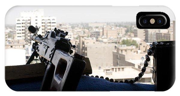 A Pk 7.62mm Machine Gun Nest On Top IPhone Case