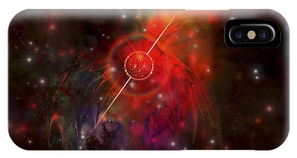 Beam iPhone Case - A Pulsar Star Radiating Strong Beams by Corey Ford