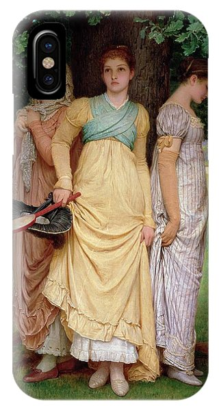 Racquet iPhone Case - A Summer Shower by Charles Edward Perugini