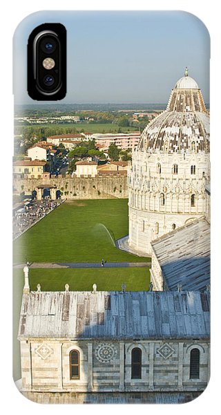 A View From The Bell Tower Of Pisa  IPhone Case