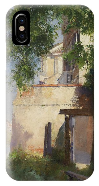 Porch iPhone Case - A View Of Venice From A Terrace by Henry Woods