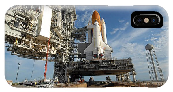 Liftoff iPhone Case - A View Space Shuttle Atlantis On Launch by Stocktrek Images