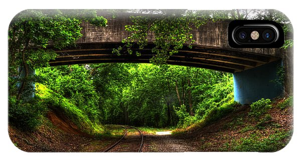 A Walk Along The Tracks IPhone Case