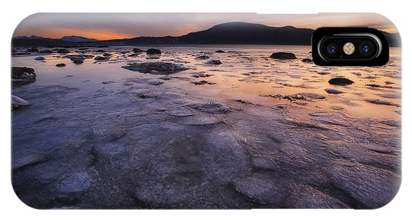 A Winter Sunset At Evenskjer In Troms IPhone Case