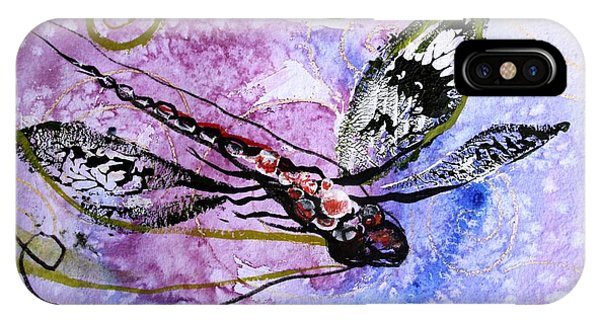 Abstract Dragonfly 6 IPhone Case