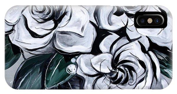 Abstract Gardenias IPhone Case