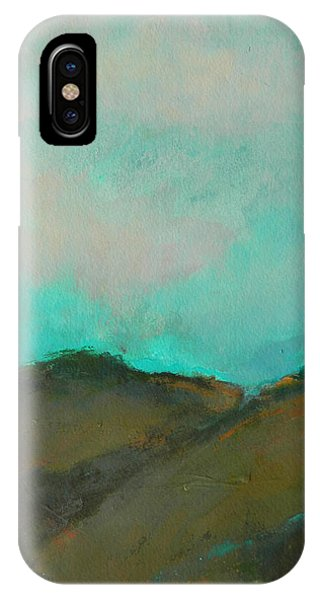 Abstract Landscape - Turquoise Sky IPhone Case