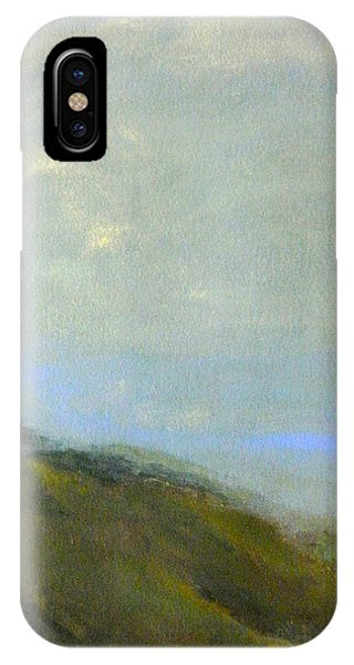 Abstract Landscape - Green Hillside IPhone Case