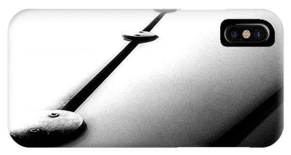 Artwork iPhone Case - #abstract #lines In #blackandwhite. #bw by Robbert Ter Weijden